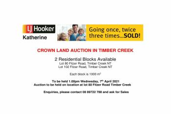 Lot 80 Fitzer Rd, Timber Creek, NT 0852